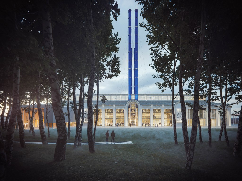 RPBW_GES-2, Mosca, Russia, 2015 – in progress – view from the forest_render © RPBW