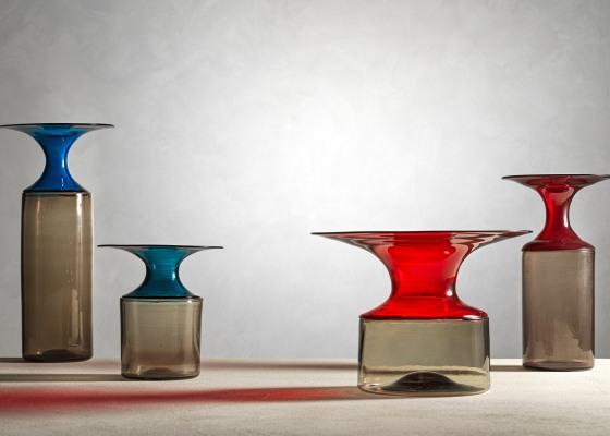 Vasi della serie Lapponi, Tapio Wirkkala per Venini, 1966