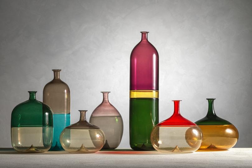 Vasi della serie Bolle, Tapio Wirkkala per Venini, 1966-67